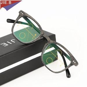 Image 1 - 2019 Ultra Light antifatigue Progressive Multifocal Fashion  Reading Glasses men Female Bifocal Intelligence diopter glasses