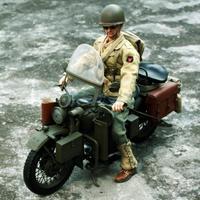 1/6 Весы Пластик солдат армии США Второй мировой войны мотоцикл модель для 12 ''фигурку Горячие Игрушечные лошадки Sideshow Капитан Америка