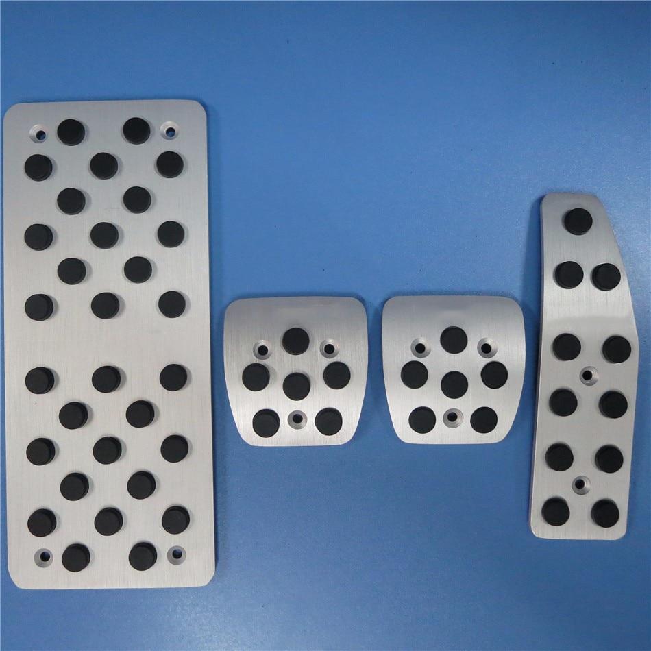 TTCR II Car Accessories For Chevrolet Captiva MT accelerator brake footrest pedals, aluminium antiskid gas plate pad Stickers