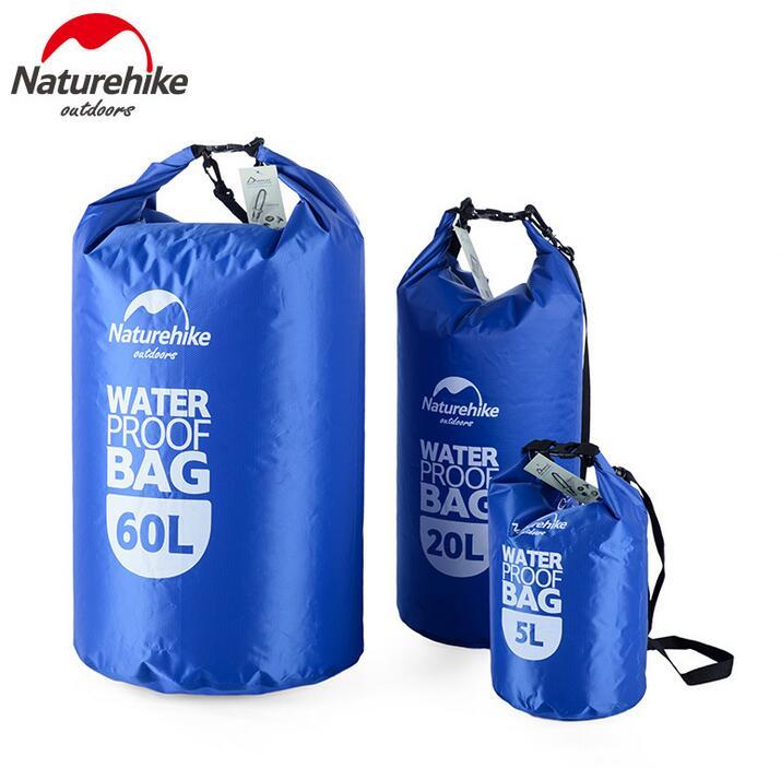 Prix pour NatureHike Sacs Étanches en Plein Air Ultra-Léger Camping Randonnée Sec Organisateurs Dérive Kayak De Natation Sacs 5L 20L 60L