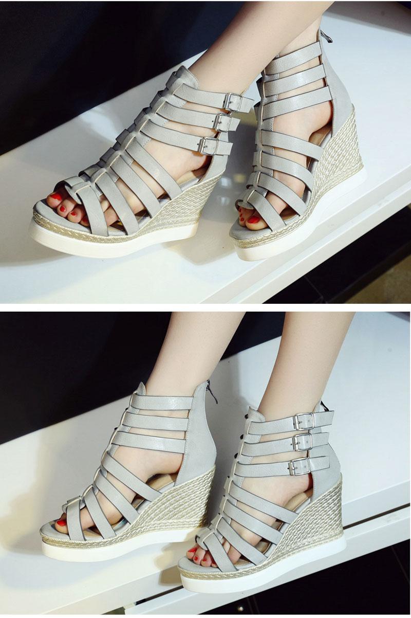 Gladiator Shoes, Women's Platform Wedges, High Heel Sandals, Rome Ladies Wedge Heels 10