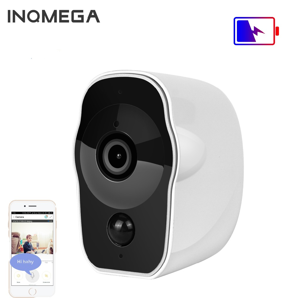 INQMEGA Wireless Battery Powered IP Camera 1080P Outdoor Wifi Camera Indoor Security CCTV Rechargeable IR Record