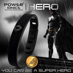 Image 4 - Power Ionischen Super Hero Serie 3000 ionen Sport Titan Mode Wasserdicht Armband Armband Balance Menschlichen Körper Frei Schriftzug