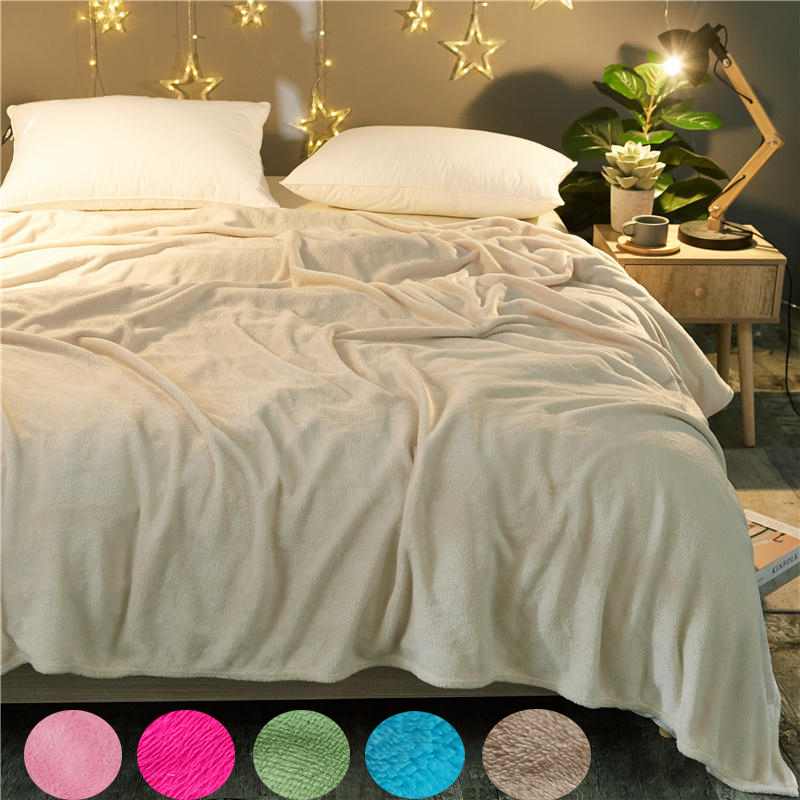 Pink Blankets Single And Double Super Soft Printing Family Car And Sofa Throws Summer Office Quilts Home Textile Bedding
