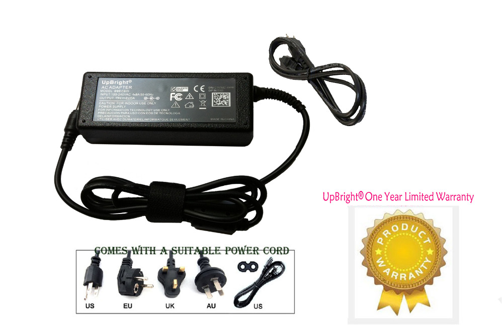 UpBright NEW Global 24V AC  DC Adapter For Fargo DTC300 DTC300M ID Card Printer 24VDC Power Supply Cord Cable Charger Mains PSU