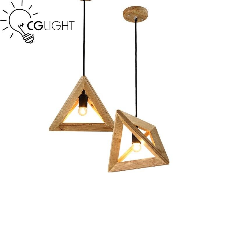 ФОТО Original wooden pendant Lamp Loft Vintage style Restaurant Bedroom Diningroom home decoration hanging lighting E27 lamp holder