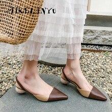 цены AIKELINYU Genuine Leather Strange Style Women Sandals High Heels Office Ladies Shoes Mixed Colors Handmade Elastic Band Sandals