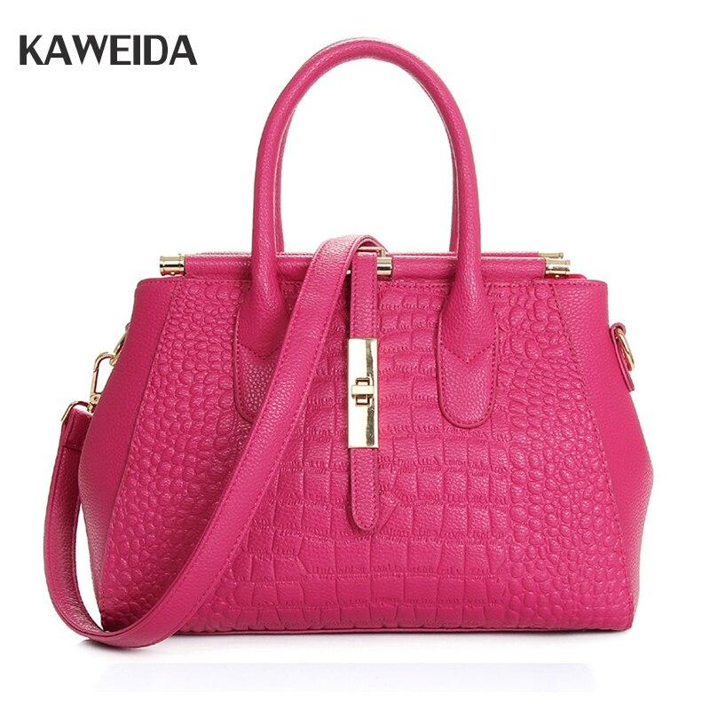 Crocodile modèle en cuir femmes sac à bandoulière blanc Messenger sacs à main sac fourre-tout grande capacité sacs à bandoulière pour dames