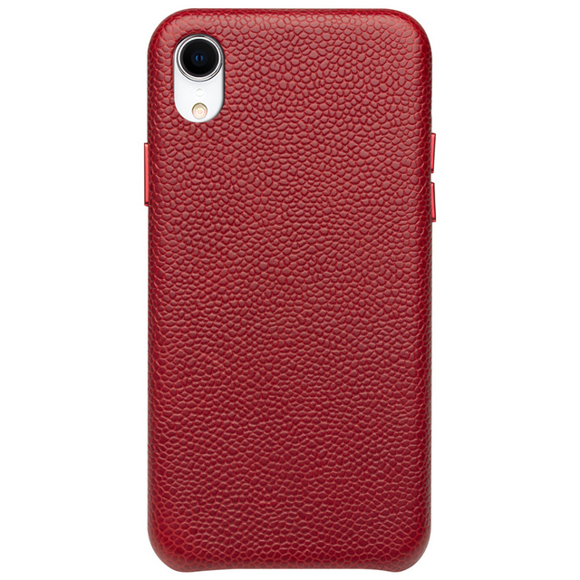 QIALINO Ultra Thin Genuine Leather Back Cover for Appole iPhone XR Luxury Handmade Slim Phone Case for iPhone XR 6.1 inches