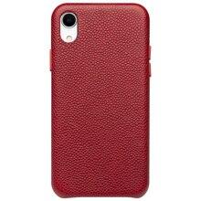 QIALINO Ultra cienki prawdziwej skóry tylna pokrywa dla Appole iPhone XR luksusowe ręcznie Slim etui na telefony dla iPhone XR 6.1 cali