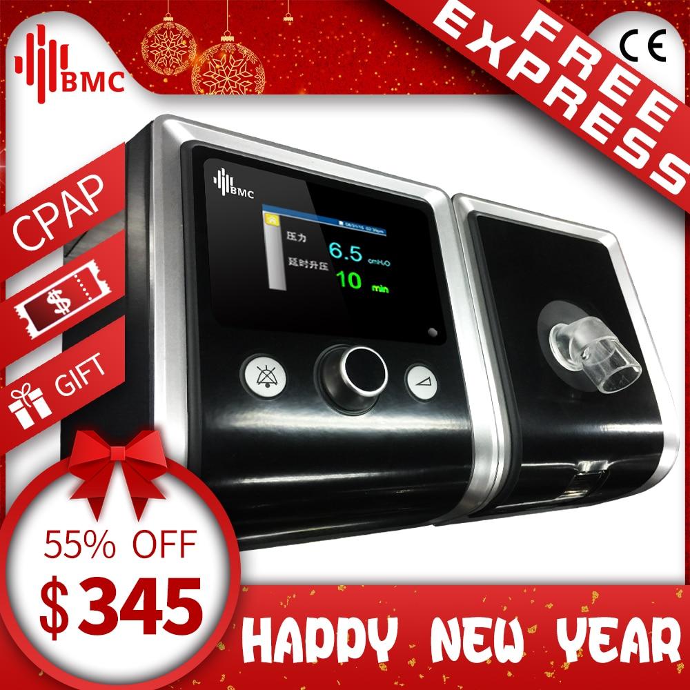 BMC Gil dispositivo de CPAP portátil tranquilo respirador con máscara humidificador de manguera de plástico bolsa el mejor sueño ronquidos solución