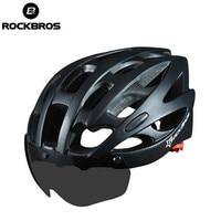 RockBros Cycling Helmets Road Bike MTB Riding Helmet With Black Goggle 28 Air Vents Cycling Bike