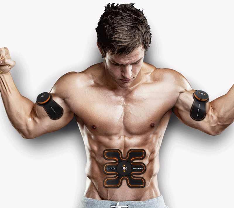 Rechargeable Battery Gym Electronic Body Muscle Arm Waist Abdominal Exerciser Muscle Massaging Machine Viberating Slim Belt (3)__