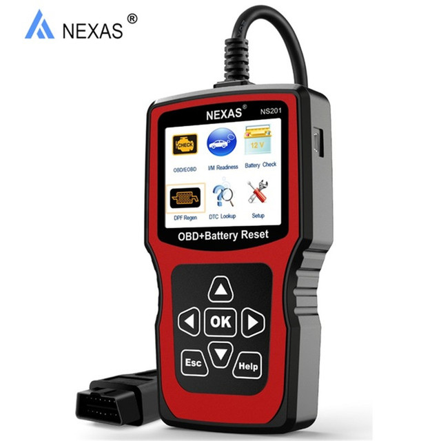 US $102 34 |OBD2 DPF Regeneration Diagnostic Tool NEXAS NS201 Battery Check  Scanner For Gas Diesel Car Light Duty Vehicles For Citroen Opel-in Engine