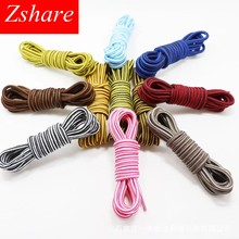 1Pair Striped Round Shoelaces Unisex Sneaker Shoe Laces Top Quality Polyester Outdoor Sport Shoelace Length 70/90/120/150CM(China)