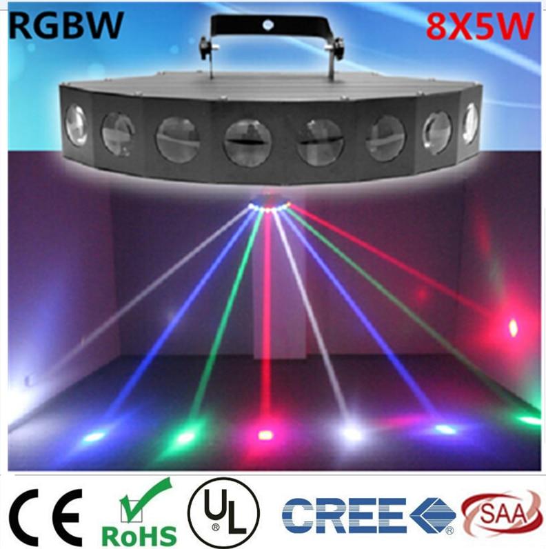 New  8X6W LED fan beam lights  KTV bar lights KTV bars laser stage lights световое оборудование flame lights led ktv
