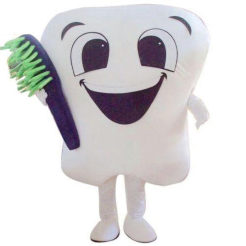 Traje de disfraces de la mascota del diente con el traje adulto de - Disfraces