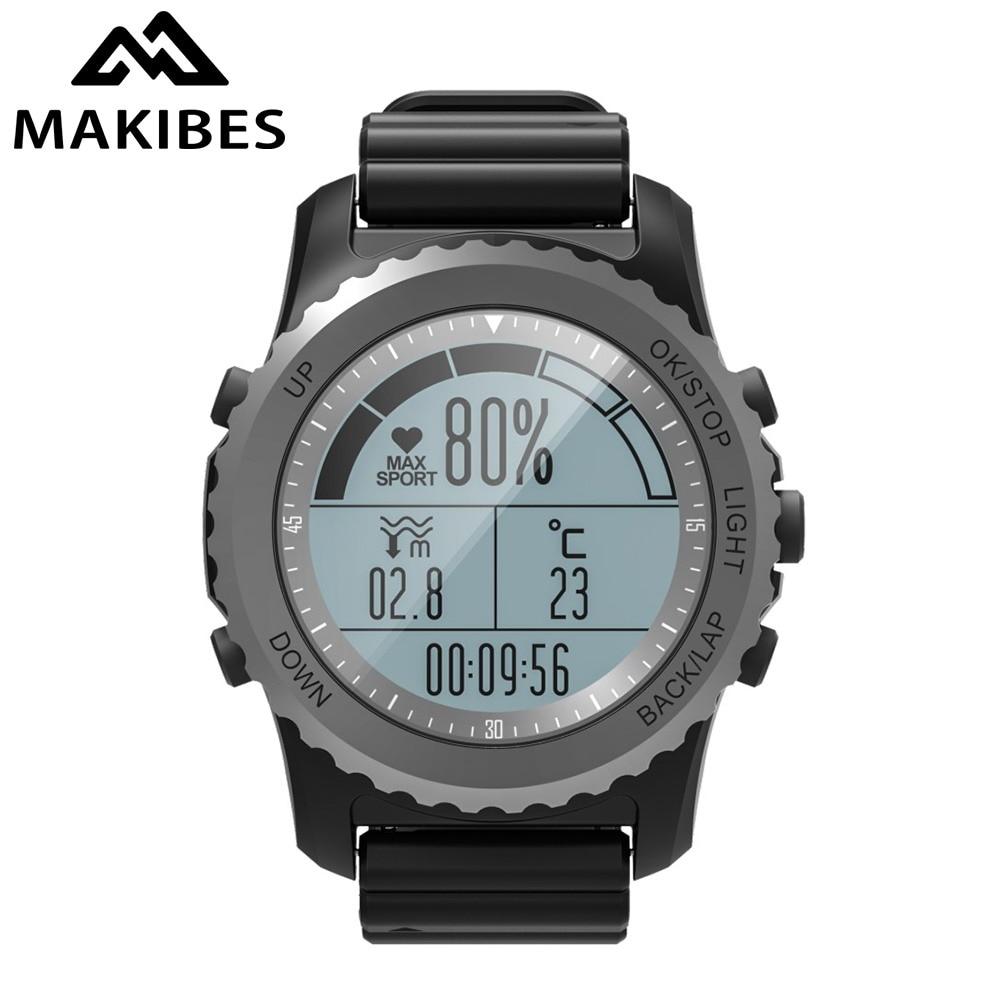 NOUVEAU Makibes G07 GPS Multisport Montre Smart Watch Hommes Femmes L'activité GPS Tracker Dynamique Coeur Taux IP68 smartwatch pour Android ios