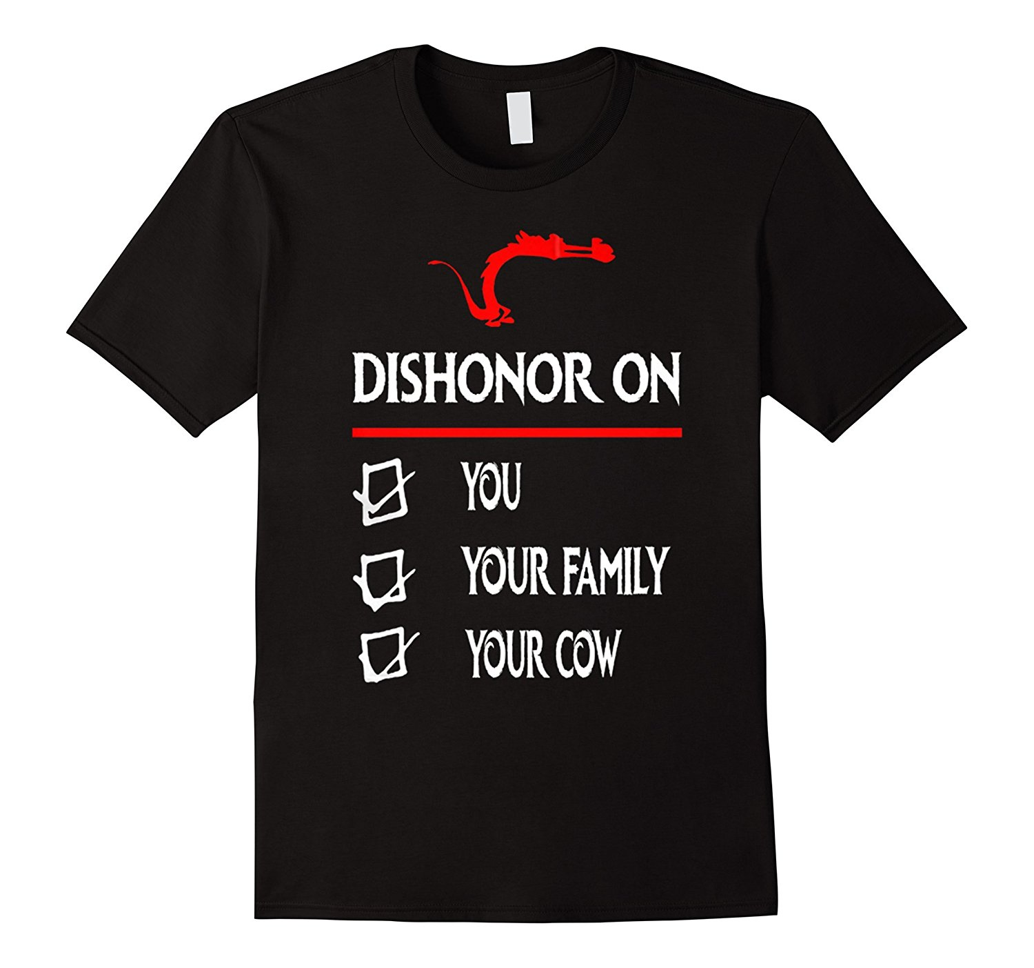Dishonor On You Your Family Your <font><b>Cow</b></font> <font><b>T</b></font> <font><b>Shirt</b></font> Print <font><b>T</b></font> <font><b>Shirt</b></font> Summer Style Fashion Cool Funny <font><b>T</b></font> <font><b>Shirt</b></font> High Quality Tees image