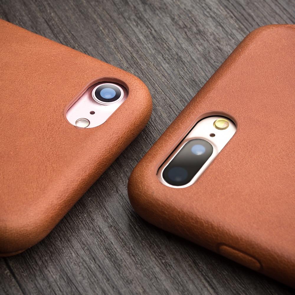 QIALINO fodral för iPhone 7 plus lyxigt äkta läder Flip Folio - Reservdelar och tillbehör för mobiltelefoner - Foto 4
