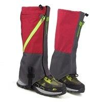 LUCKSTONE 1 Paire Étanche Neige Boot Leg Leggings Comprend Robuste En Plein Air Randonnée Escalade (Gris Rouge)