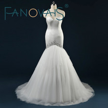 ASA Real Pictures Tulle Tiered Ruffles Court Train Mermaid Wedding Dresses Crystal Beaded Sequins Off Shoulder Bridal Gowns
