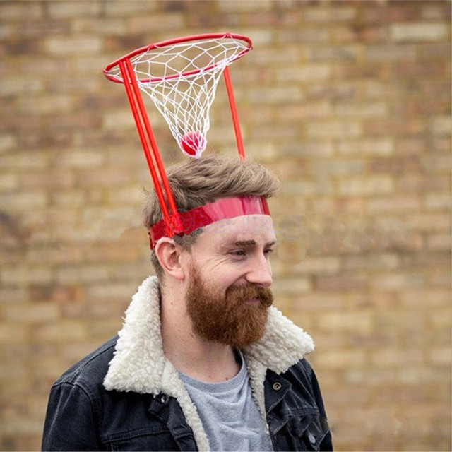 Kids Interactive Funny Toys Hat Children Head Basketball Hoop Game Circle  Shot Plastic Basket Parent 60f6b4bb976