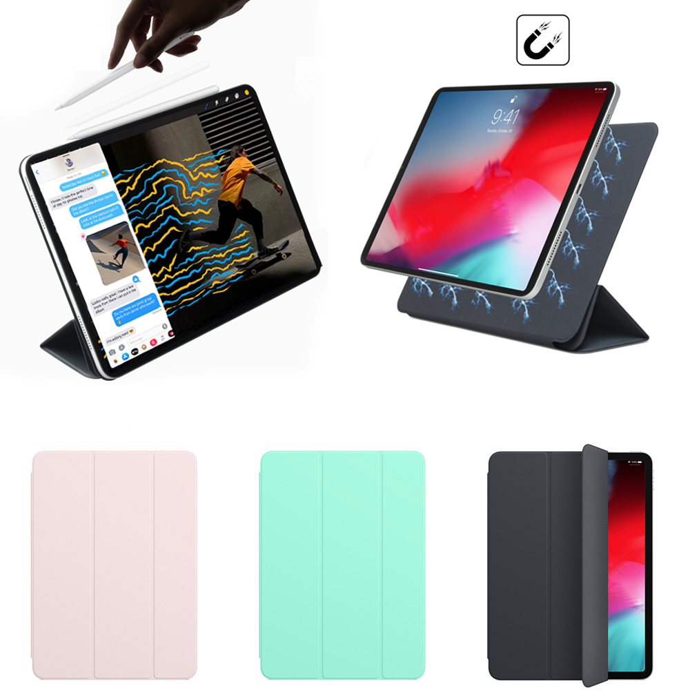 Magnetic Smart Folio for 11 inch iPad Pro 2018, Trifold Stand Magnet Case Cover for iPad Pro11 Funda Support Attach ChargeMagnetic Smart Folio for 11 inch iPad Pro 2018, Trifold Stand Magnet Case Cover for iPad Pro11 Funda Support Attach Charge
