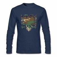 Mens Slim Fit Camo Albanees Eagle mannen T-shirts Sweatshirts Voor koop Lange Mouwen Tee Mannen Cool Tees t-shirt roze floyd swag