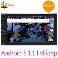 Новый Android 5.1 Аудиомагнитолы автомобильные стерео GPS Wi Fi Bluetooth Радио Автомобильная quad шнур HD мультимедийный плеер для Универсальный руль