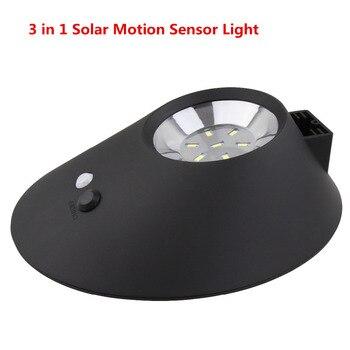 3 in 1 4400 mah solarbetriebene motion sensor licht solar energy led wandleuchten ip65 wasserdicht für terrasse, Deck, hof, einfahrt
