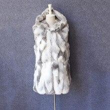 Женская одежда натуральный мех кролика жилет женский осенняя куртка без рукавов натуральной Меховой жилет для зимы жилет женский весеннее пальто