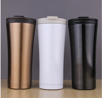 18 8 500 ML Coffee Double Flask Travel Mugs Cup Petaca Stainless Steel Mug Thermoses Insulation