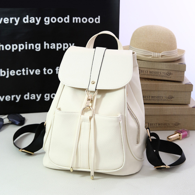 2017 Hot New Stylish Women s Backpack Korean Fashion Female Backpacks  College Student Teenagers Rucksack Back Pack School Bags-in Backpacks from  ... 401025c6014ba