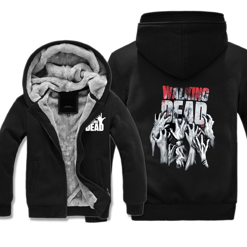 The Walking Dead Jacket Men Women Thick Clothes Winter