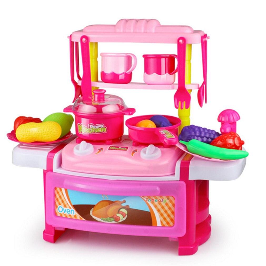 Baby Kitchen Set Plastic Simulation Games Food Kids Toys