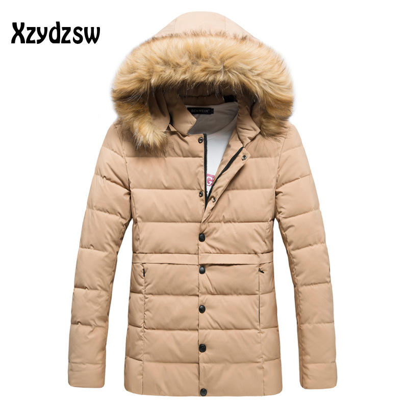 Winter Jacket Men White Duck Down Long Jackets Keep Warm Coat Casual Mens thick Down Overcoat Jackets parka homme New Brand