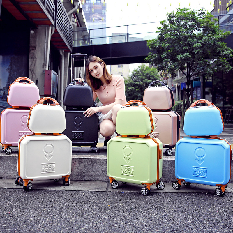 Mini trolley luggage13 16 universal small wheels luggage cosmetic travel bag commercial trolley luggage sets,retro luggageMini trolley luggage13 16 universal small wheels luggage cosmetic travel bag commercial trolley luggage sets,retro luggage
