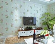 beibehang Pink garden flowers large thickening pressure non-woven bedroom romantic papel de parede papier peint 3d wallpaper