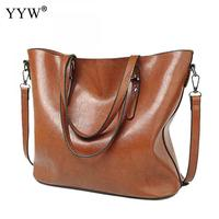 Women Vintage Leather Handbags Lady Large Tote Bag Female Pu Shoulder Bags Bolsas Femininas Sac A Main Brown Black Red