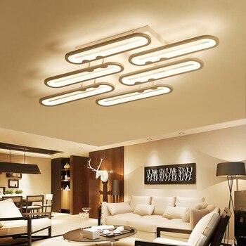 Rectangle acrylique aluminium plafond moderne à LEDs lumières pour salon chambre AC85-265V blanc plafonniers