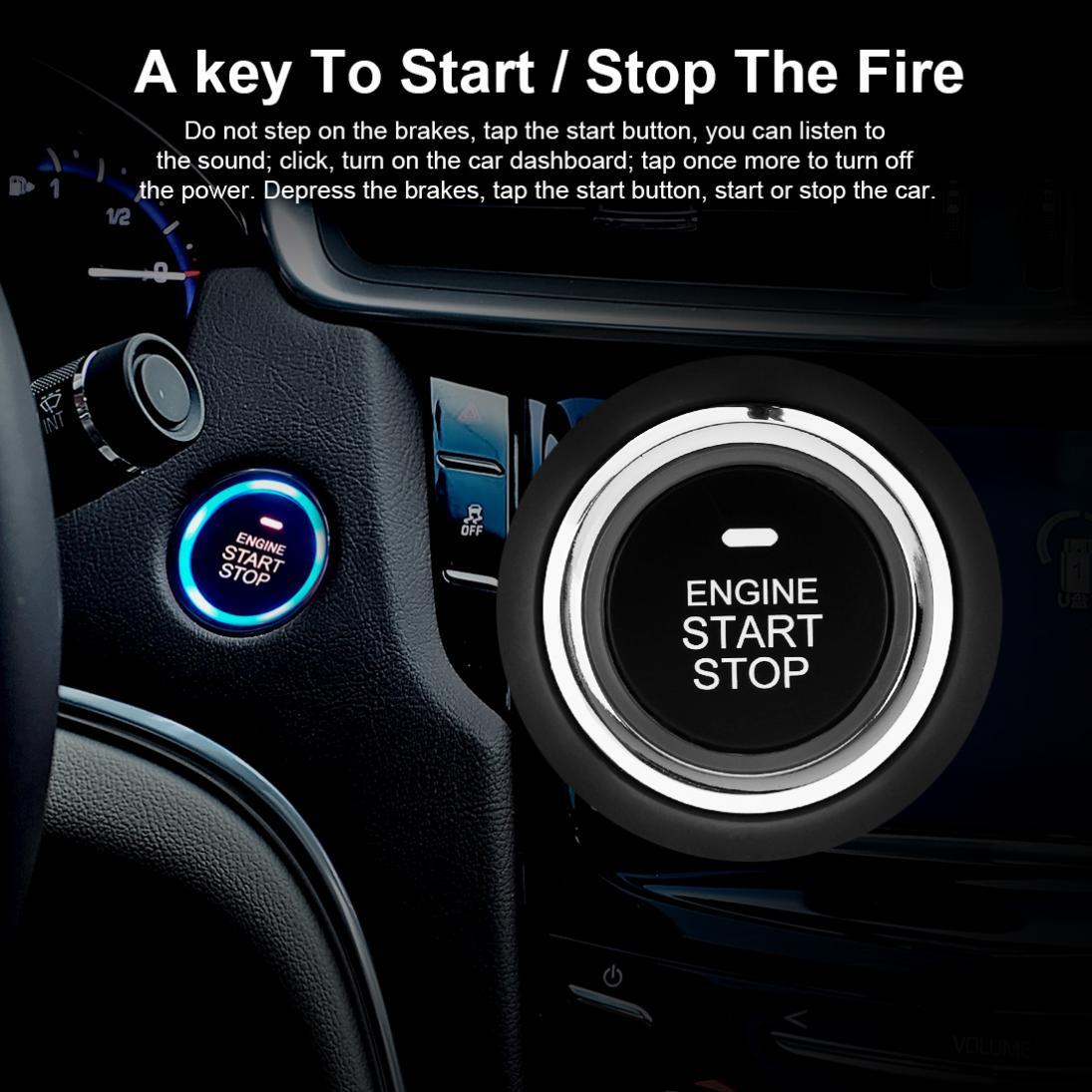 Système de démarrage à distance d'alarme de voiture intelligente démarrage arrêt moteur aller bouton-poussoir verrouillage Central automatique système d'entrée sans clé - 6