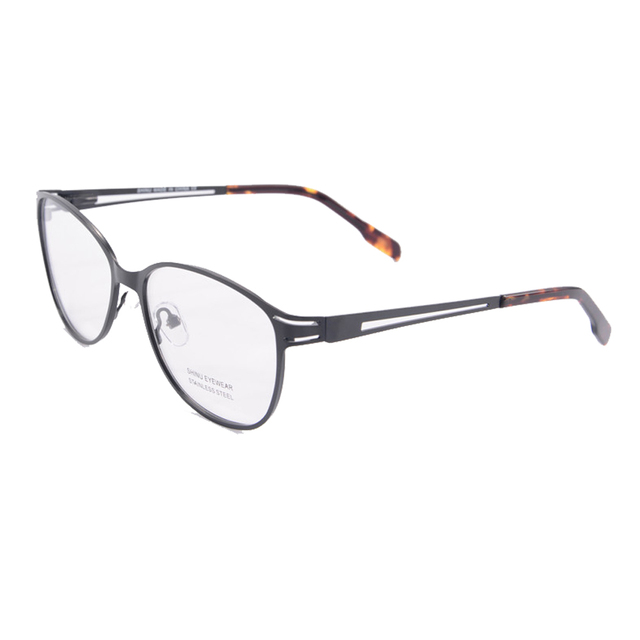 a76a2745ac retro glasses frame eye glasses frames for women stainless steel light  computer glasses oculos de grau