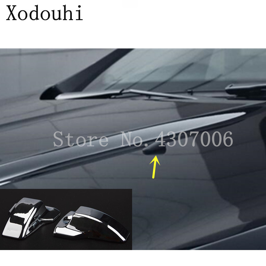 For Ford Kuga 2013 2014 2015 2016 car styling cover head front Machine Water wash paste outlet stick lamp frame trim 2pcs image