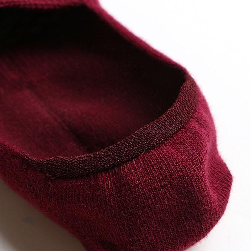 5 pairs Vrouwen Boot Sokken Onzichtbare antislip Lage Cut Katoen Meisjes sok Slipper Elanden Uil Jacquard Gelukkig Grappig Sokken Dames Meias Sox
