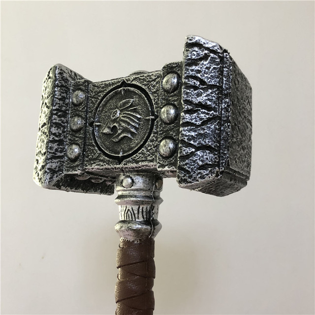 WOW  1:1 Warcraft Hammer 54cm Destroy Hammer Weapon Game Role Cosplay Safety PU Material Figure Model  Kids Gift 2