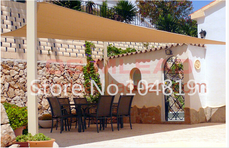 Outdoor sun shade sail 3m*4m gazebo garden awning canopy waterproof PU Polyester square toldo UV shading swimming pool Sails-in Shade Sails u0026 Nets from Home ... & Outdoor sun shade sail 3m*4m gazebo garden awning canopy ...