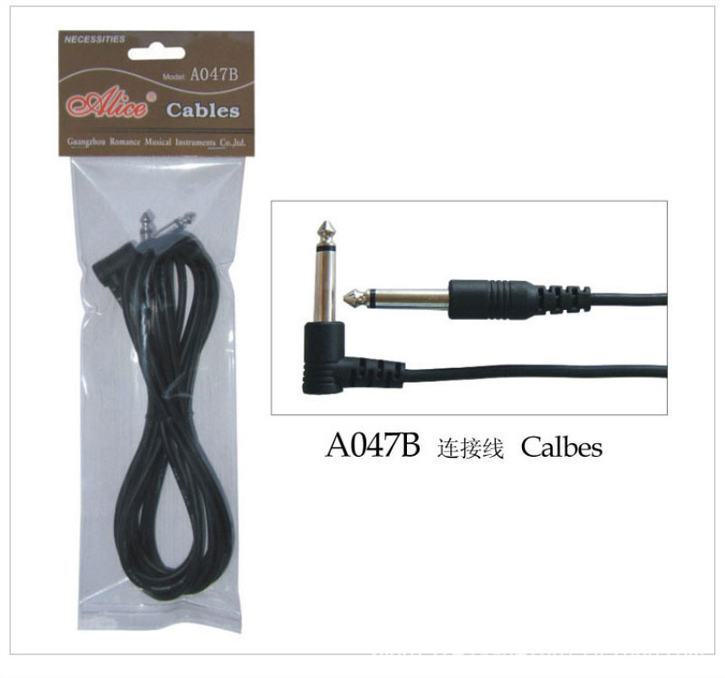 Guitar Cable Audio Cable 3m Electric Guitar Cable Musical Instrument Cable Bass Line image