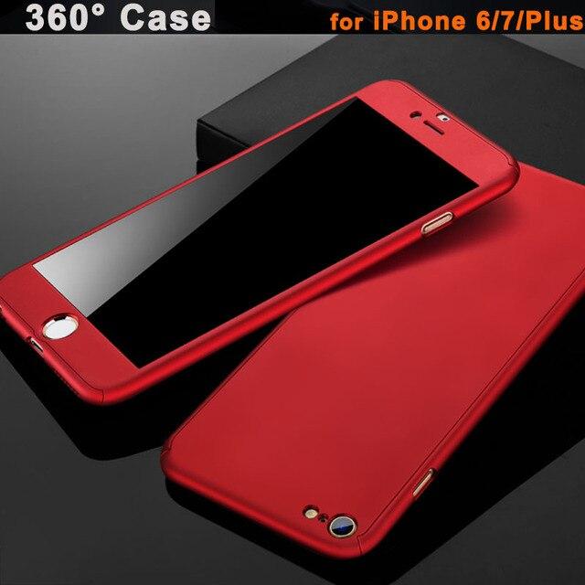 360 Full Body Protection Hard Slim Cover Case + Temper