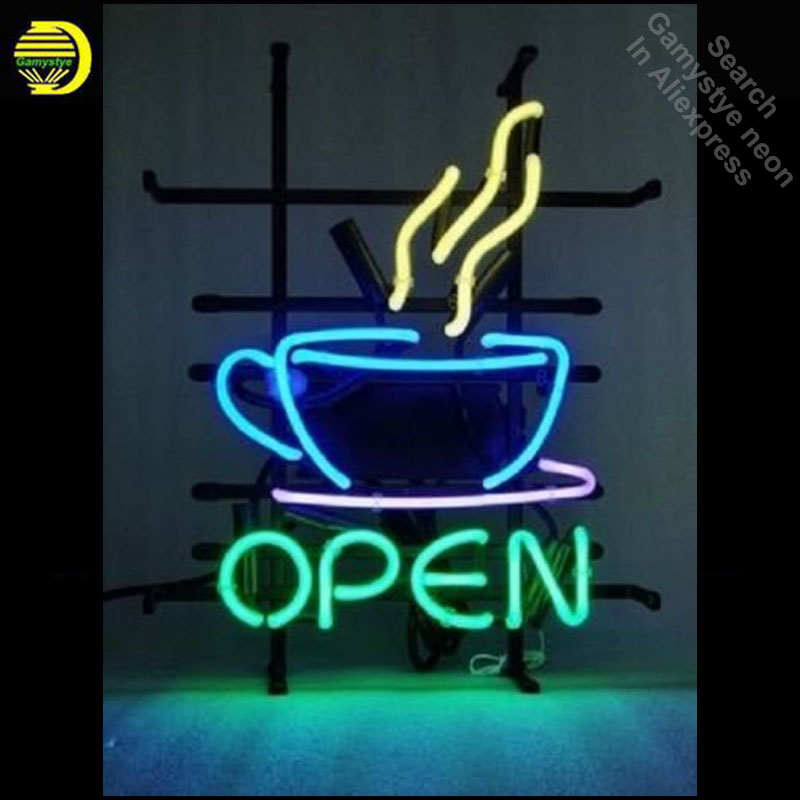 Coffee Cafe Tea Shop Neon Sign Handcrafted Neon Bulbs Sign Glass Tube Custom LOGO Iconic ...
